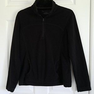 Tek Gear Pullover w/ Neck Zipper Black {Medium}